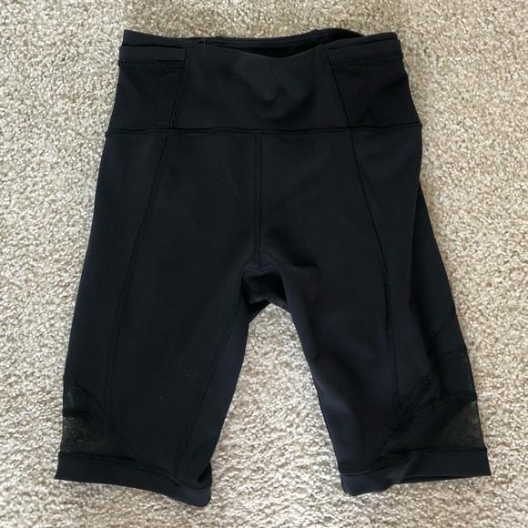 Lululemon bike shorts with mesh paneling